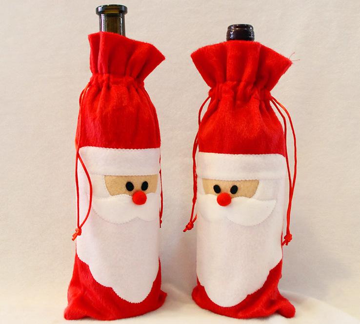Украшение бутылок шампанского для новогоднего стола